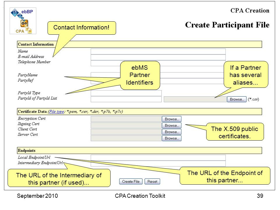 Sonnenglanz Consulting BV September 2010CPA Creation Toolkit39 Contact Information.