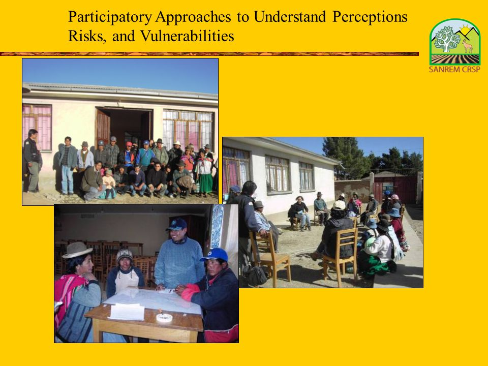 Participatory Approaches to Understand Perceptions Risks, and Vulnerabilities