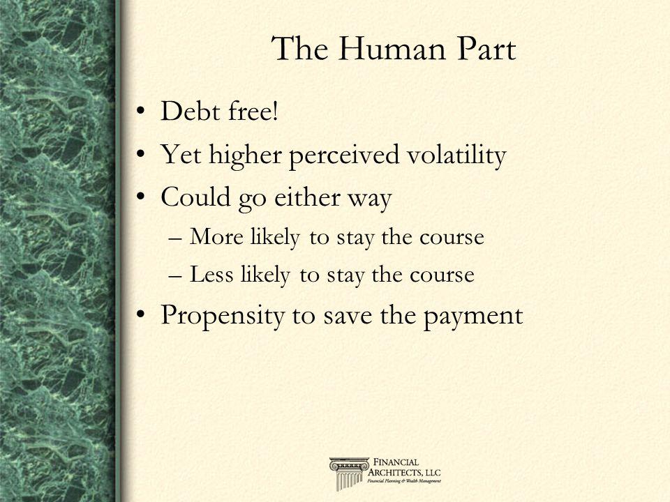 The Human Part Debt free.