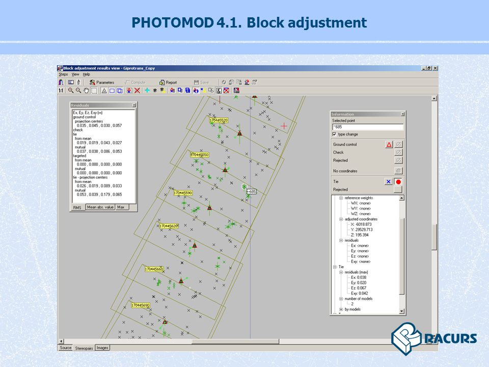 PHOTOMOD 4.1. Block adjustment