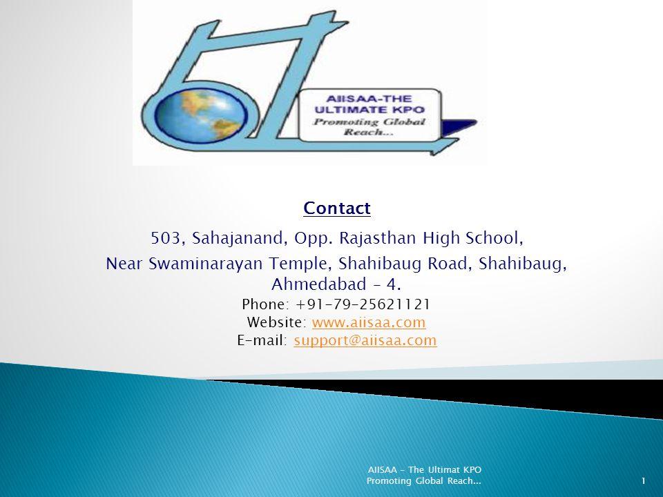 Contact 503, Sahajanand, Opp. Rajasthan High School, Near Swaminarayan Temple, Shahibaug Road, Shahibaug, Ahmedabad – 4. Phone: +91-79-25621121 Websit