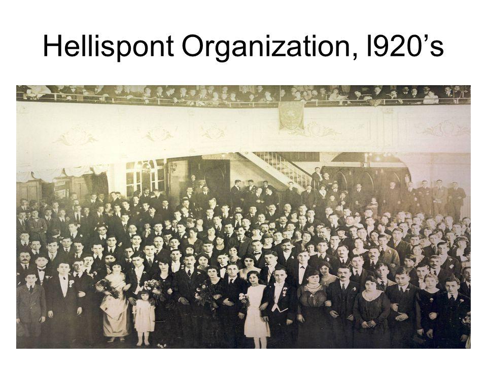 Hellispont Organization, l920's
