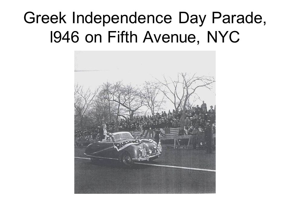 Greek Independence Day Parade, l946 on Fifth Avenue, NYC