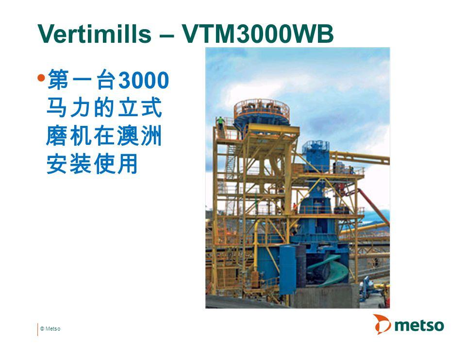 © Metso 第一台 3000 马力的立式 磨机在澳洲 安装使用 Vertimills – VTM3000WB
