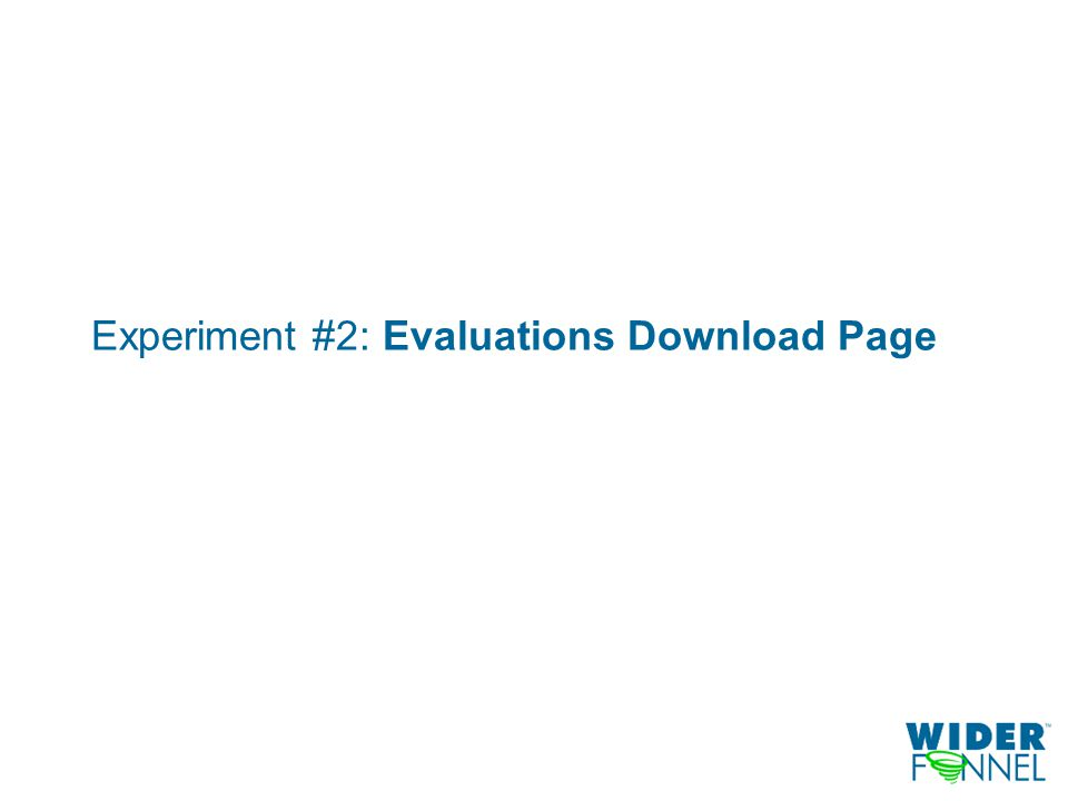 Experiment #2: Evaluations Download Page