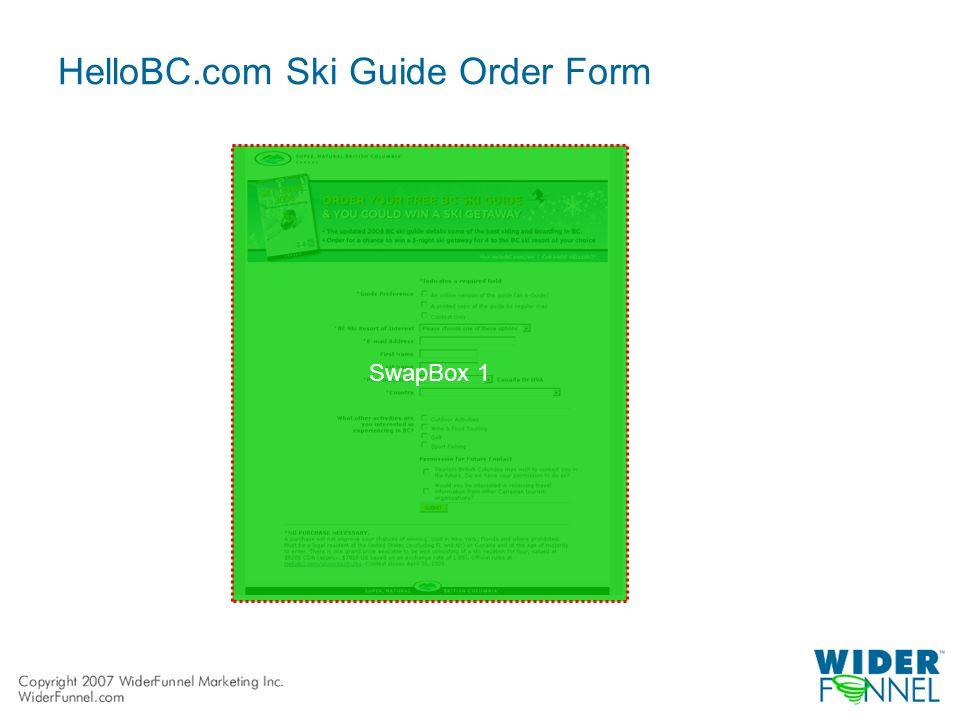 HelloBC.com Ski Guide Order Form SwapBox 1