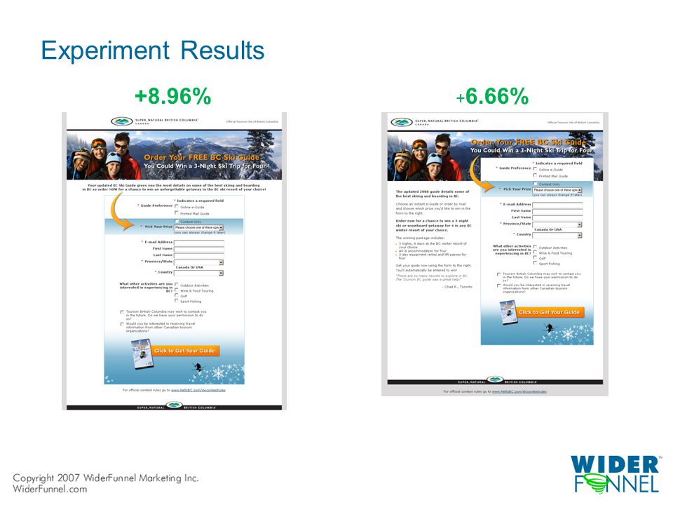 Experiment Results +8.96% + 6.66%