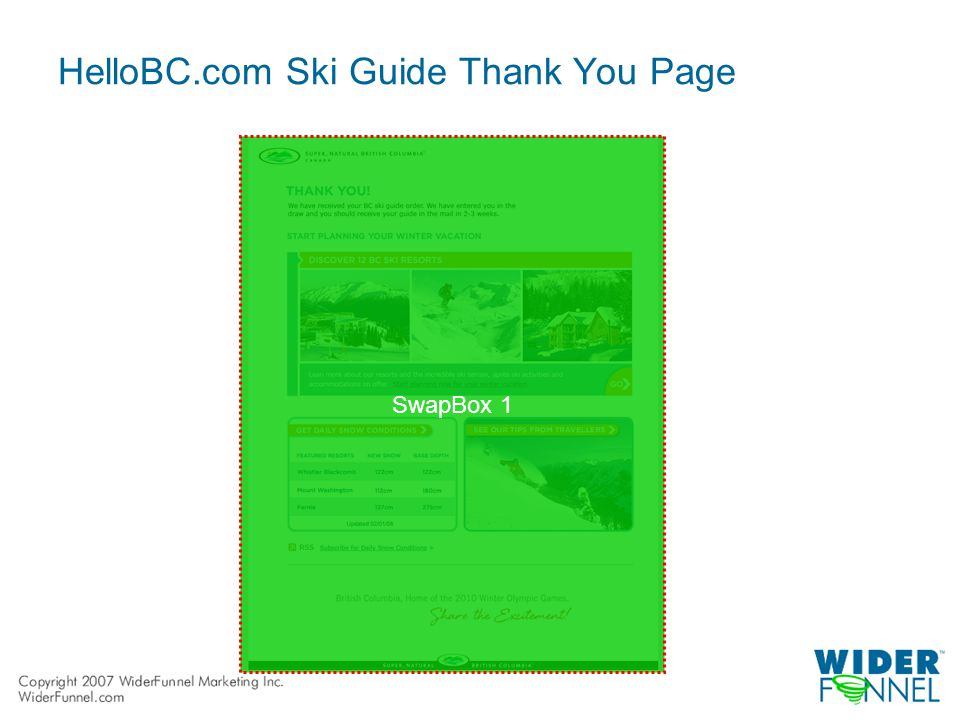 HelloBC.com Ski Guide Thank You Page SwapBox 1