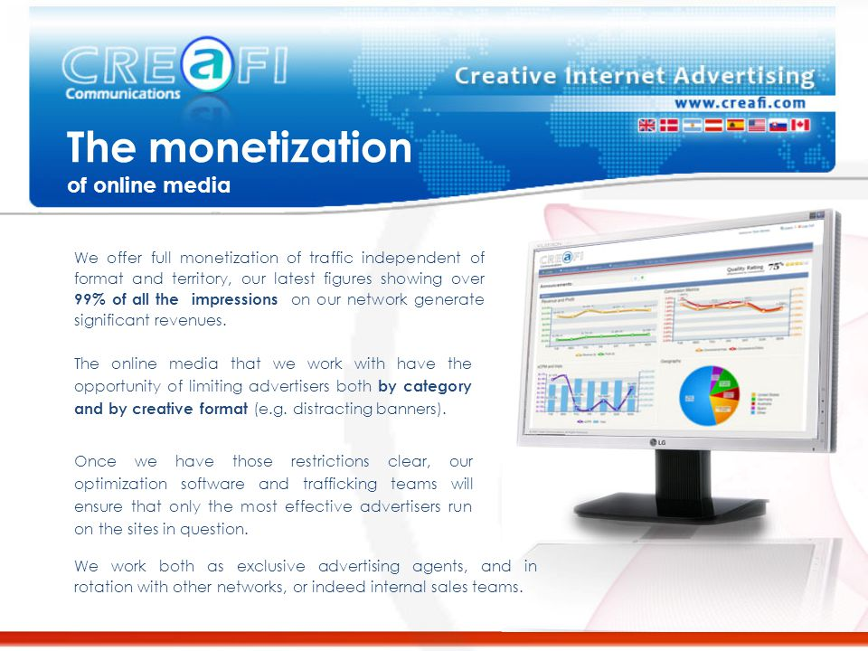 Cost effective online advertising Optimization – Our optimization system will dynamically bid and site target based on defined performance, hence ensuring that your advertising only appears on those sites that generate you sales, thereby increasing value for publisher and advertiser alike.