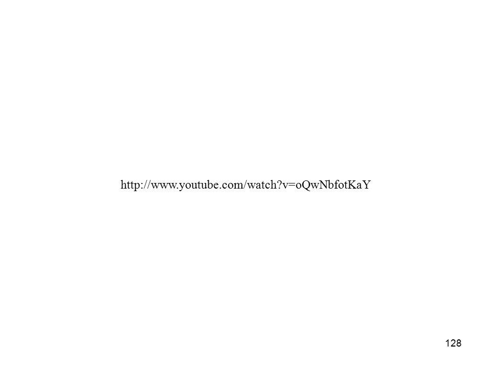 128 http://www.youtube.com/watch v=oQwNbfotKaY