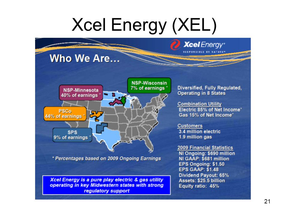 21 Xcel Energy (XEL)