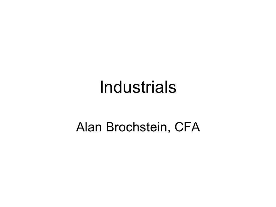 Industrials Alan Brochstein, CFA