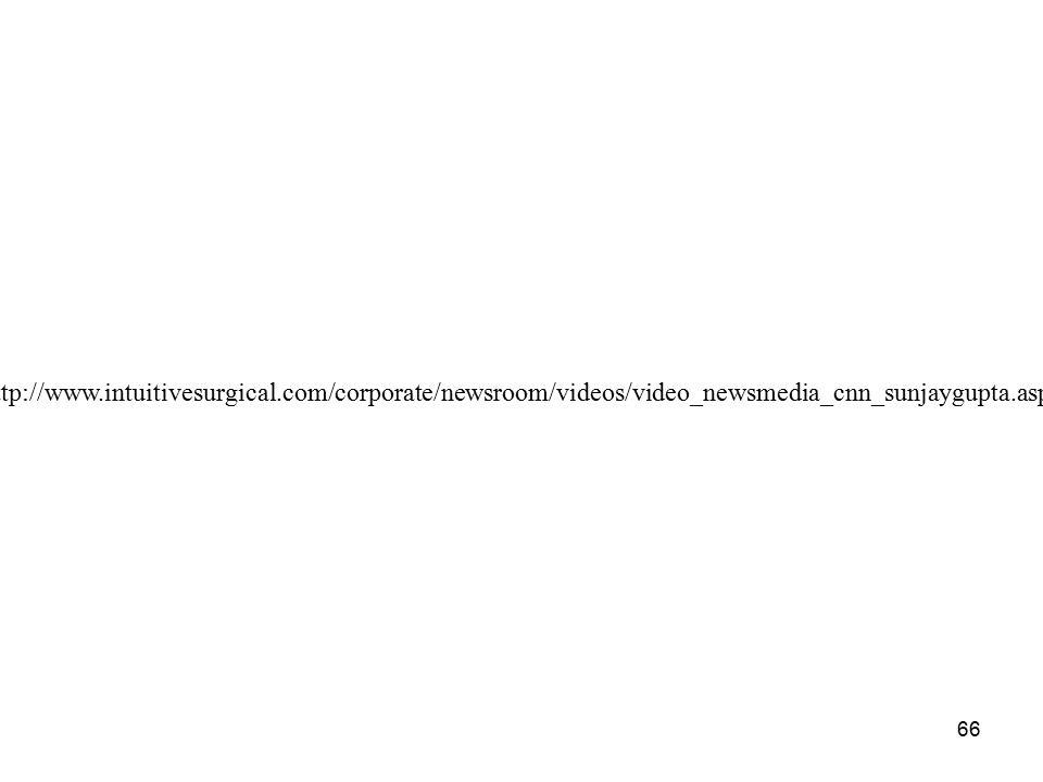 66 http://www.intuitivesurgical.com/corporate/newsroom/videos/video_newsmedia_cnn_sunjaygupta.aspx