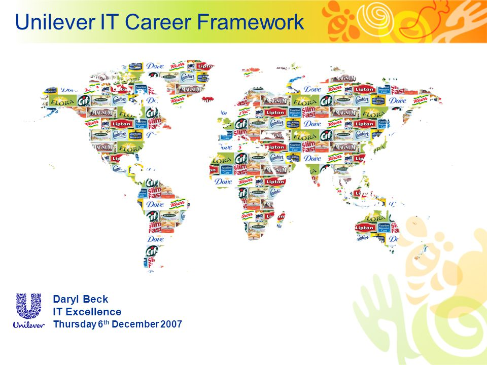 Unilever IT Career Framework Daryl Beck IT Excellence Thursday 6 th December 2007