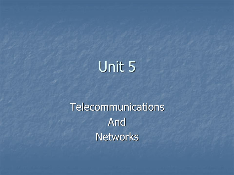 Types of Telecommunication Networks LAN – Local Area Networks LAN – Local Area Networks WAN- Wide Area Networks WAN- Wide Area Networks Client/Server Networks Client/Server Networks Network Computing Network Computing Peer-to-peer Networks Peer-to-peer Networks