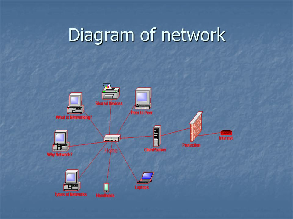 Diagram of network