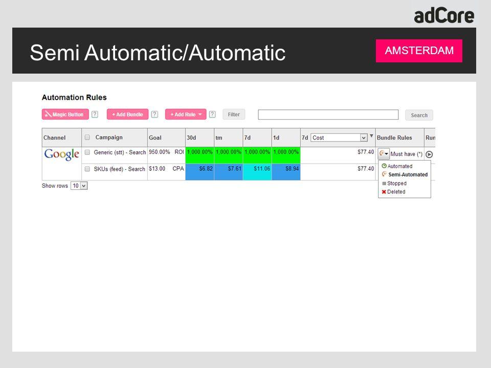 Semi Automatic/Automatic AMSTERDAM