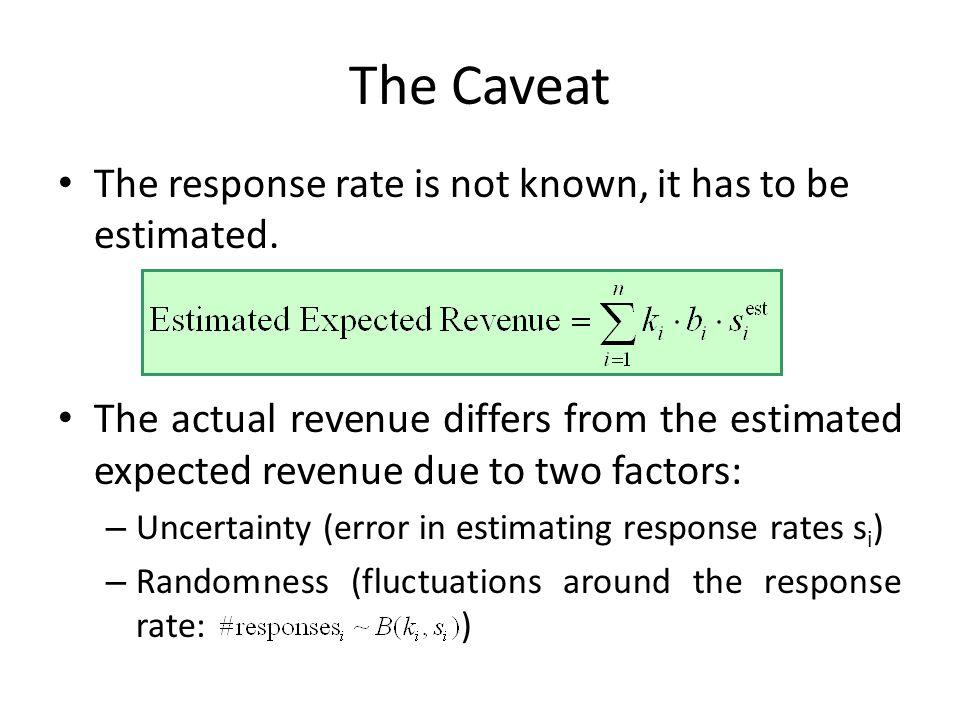 Approximate Prior – Actual Expected Revenue