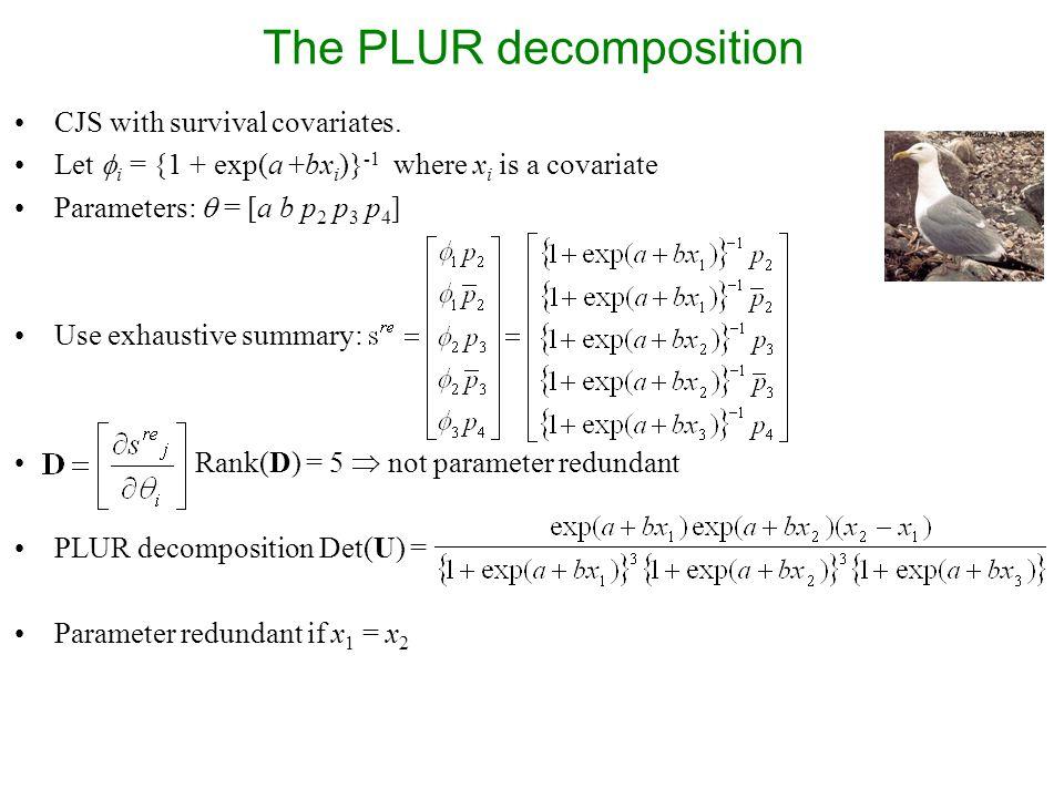 The PLUR decomposition CJS with survival covariates.