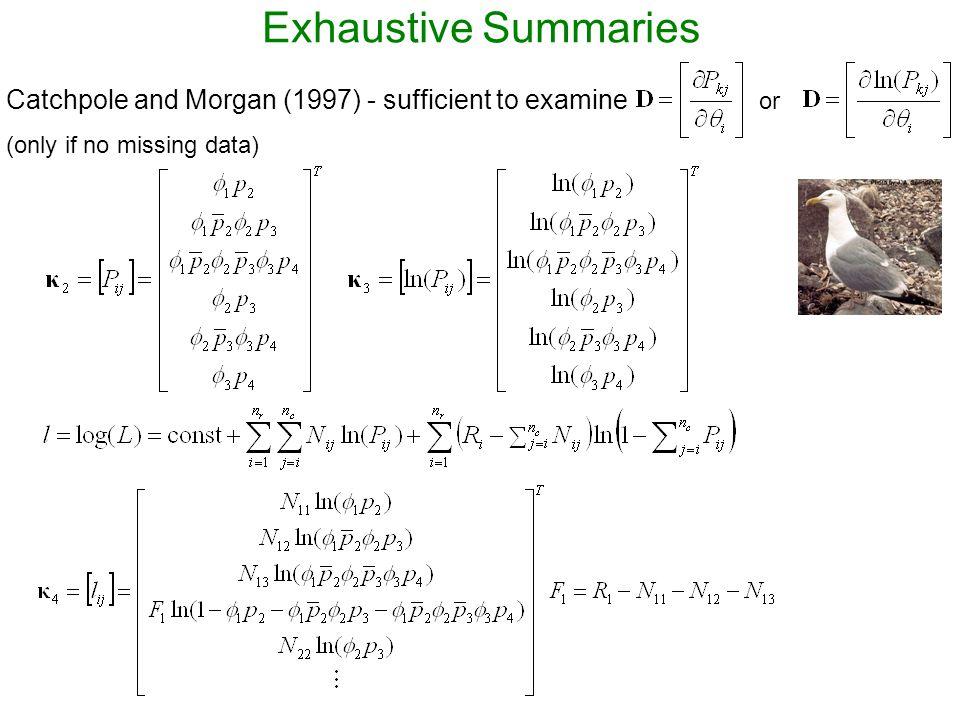 Exhaustive Summaries kk Rank(D k ) 5 5 5 5