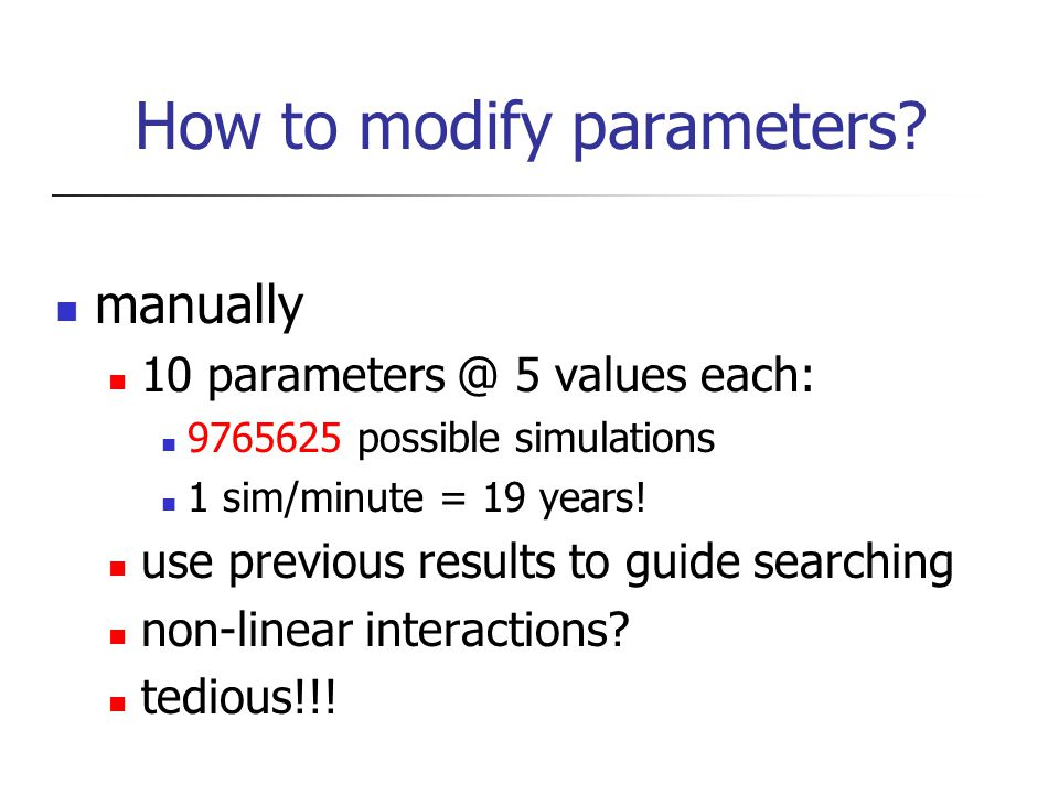 How to modify parameters.