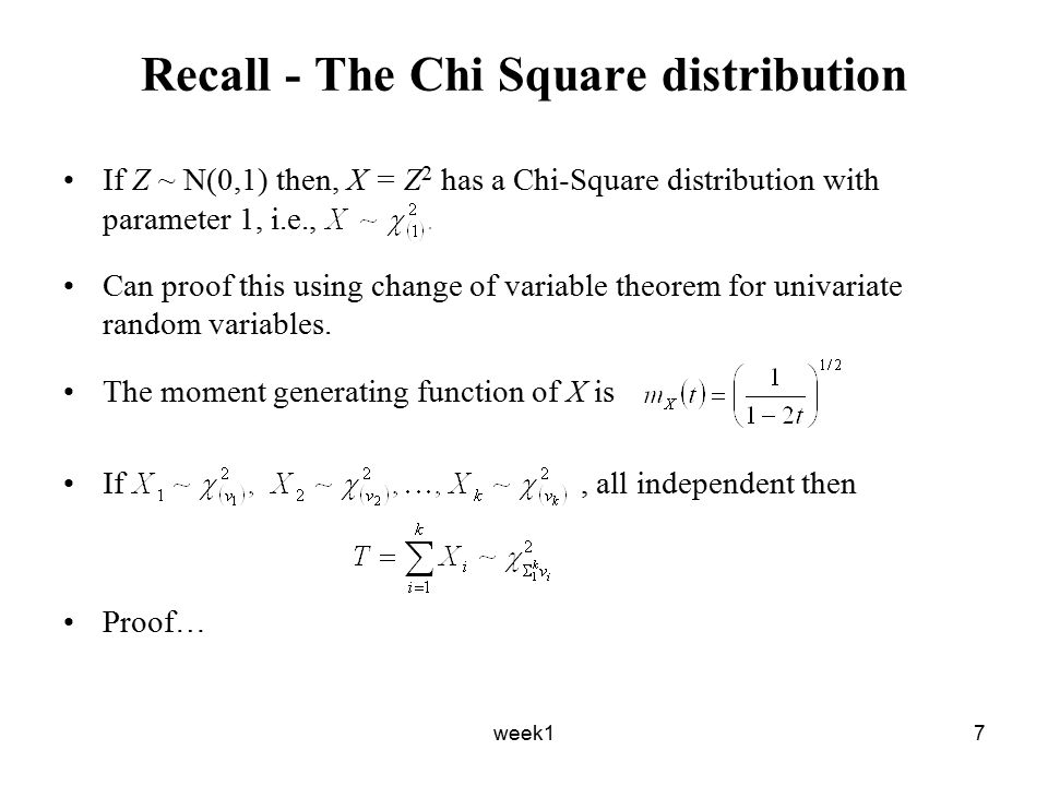 week18 Claim Suppose X 1, X 2,…X n are i.i.d normal random variables with mean μ and variance σ 2.