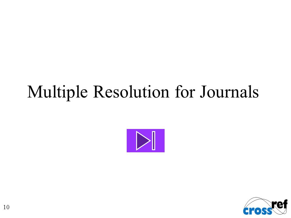 10 Multiple Resolution for Journals