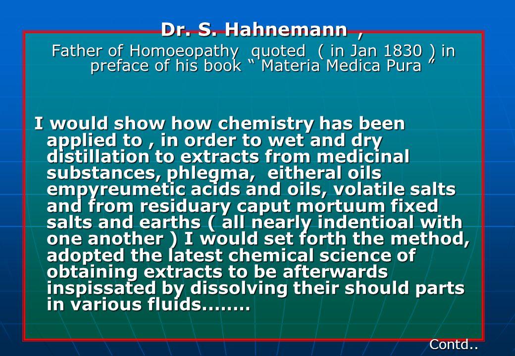 Dr. S. Hahnemann, Dr. S.