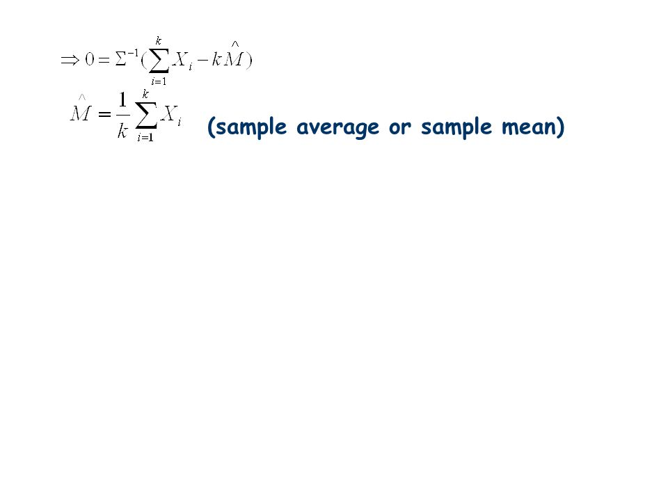 (sample average or sample mean)