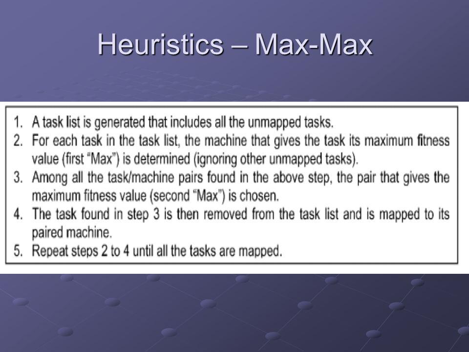 Heuristics – Max-Max