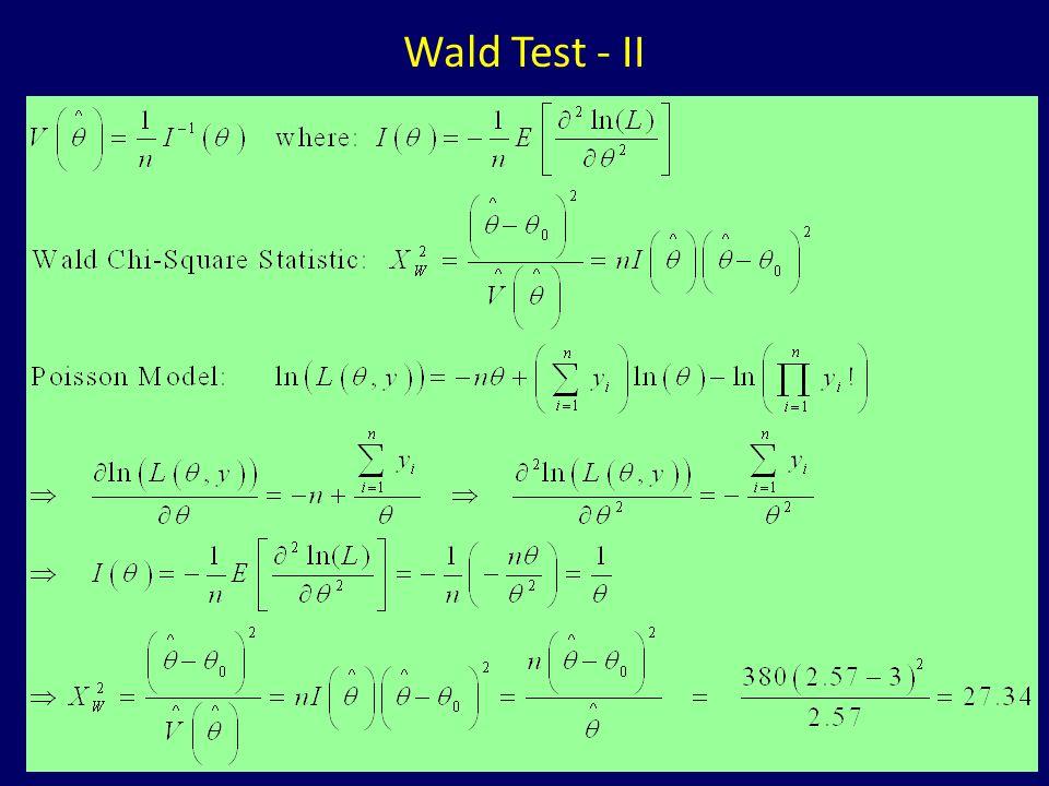 Wald Test - II