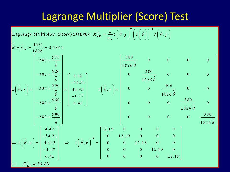 Lagrange Multiplier (Score) Test