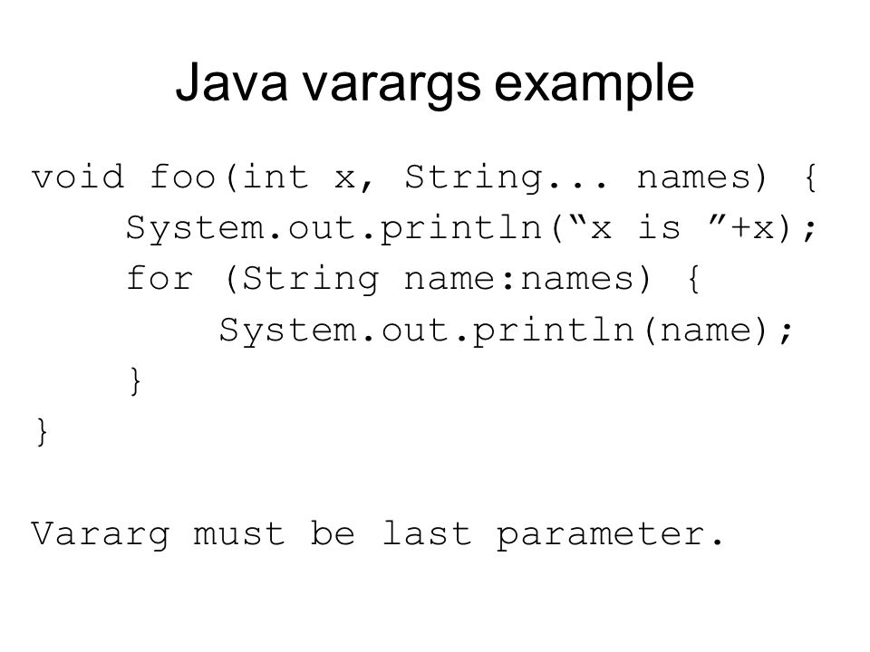 Call-by-name Explicit subroutine parameters are not the only language feature that requires a closure to be passed as a parameter. A call by name parameter is re-evaluated in the caller's referencing environment every time it is used.