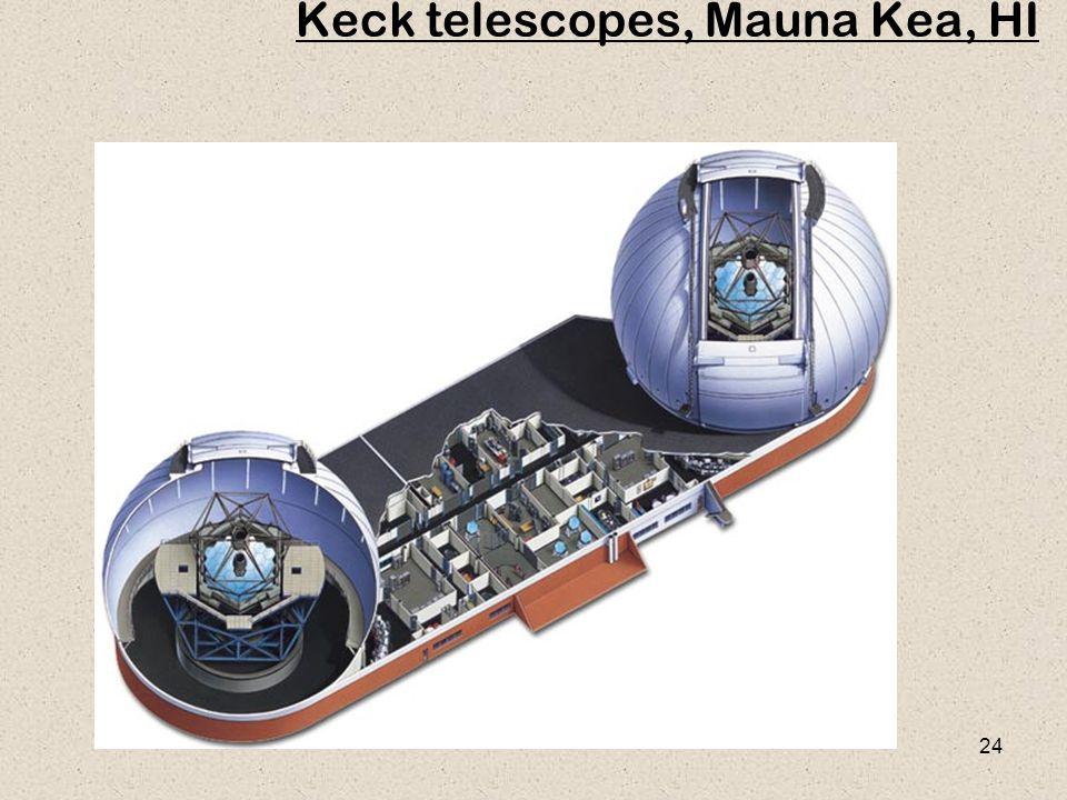 24 Keck telescopes, Mauna Kea, HI