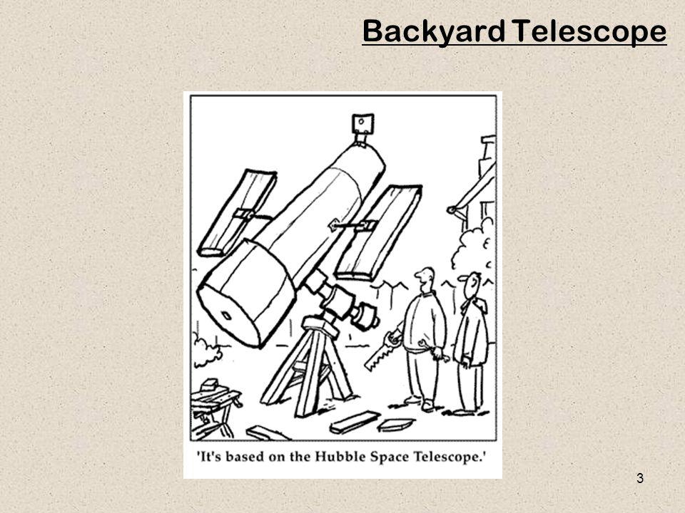 3 Backyard Telescope
