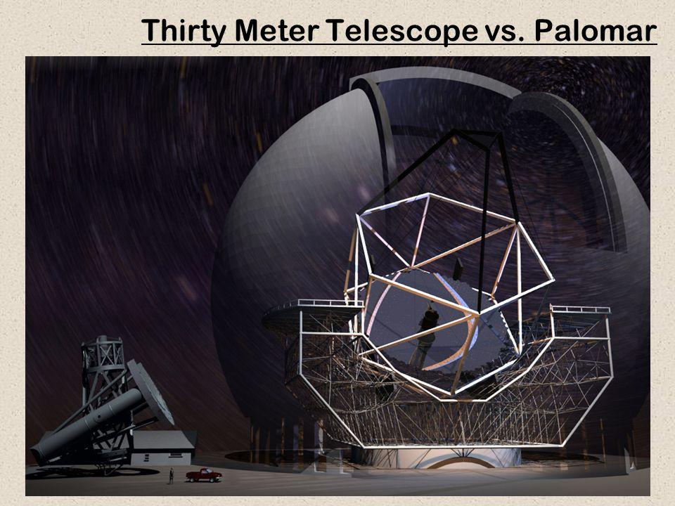 34 Thirty Meter Telescope vs. Palomar