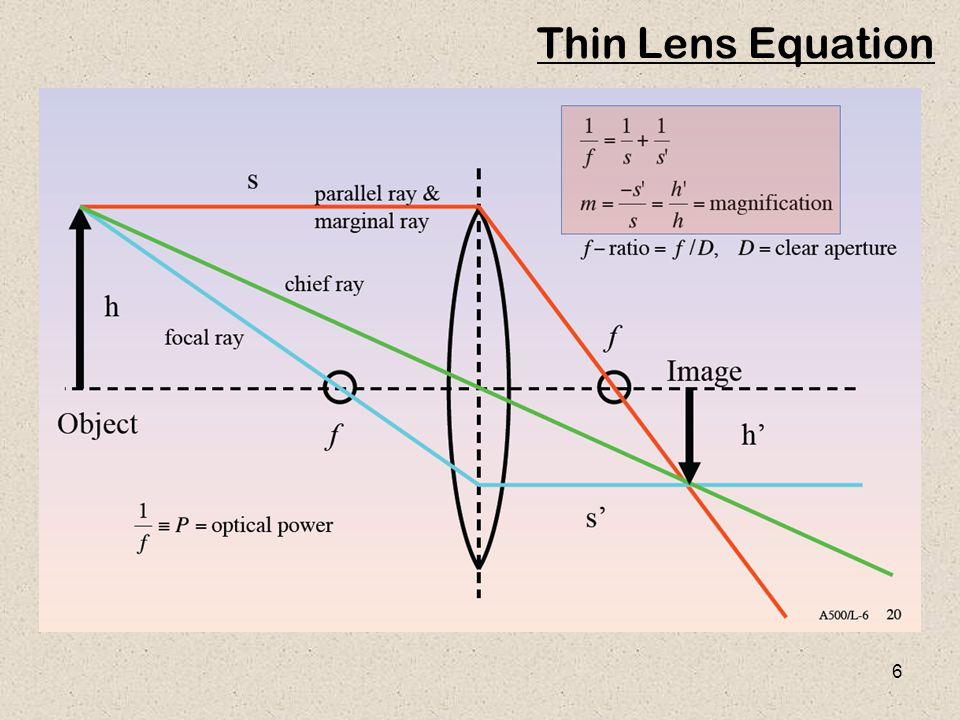 6 Thin Lens Equation