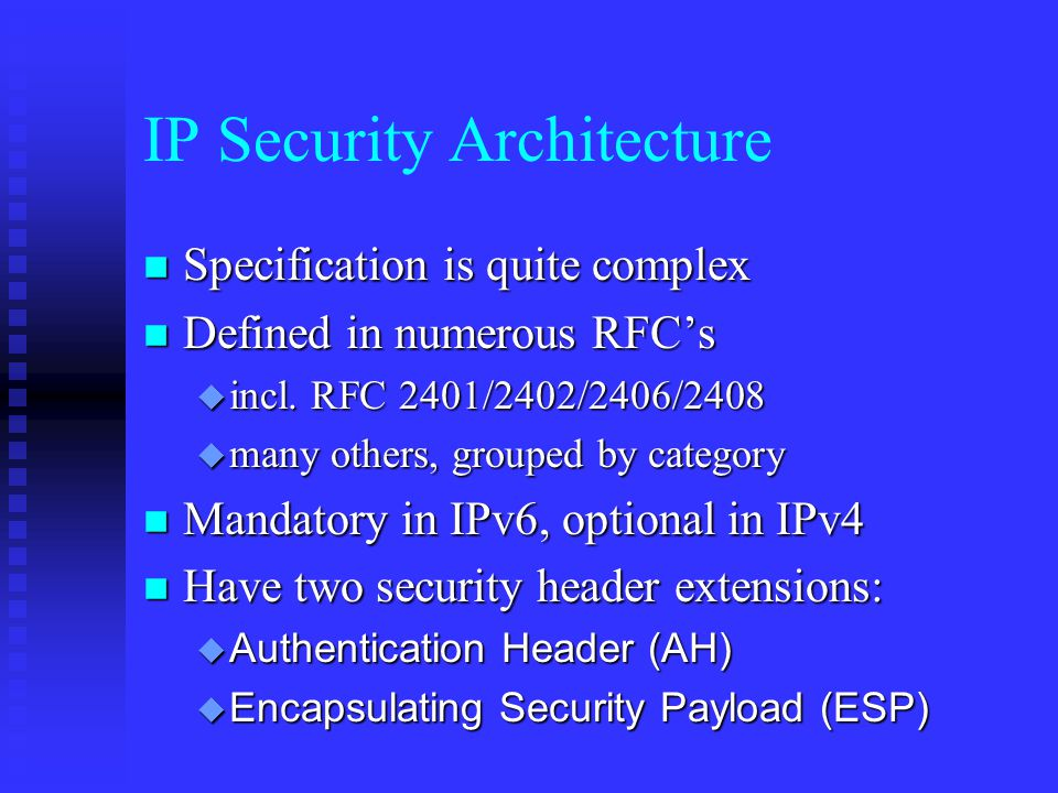 Is it for IPSec.If so, which policy entry to select.
