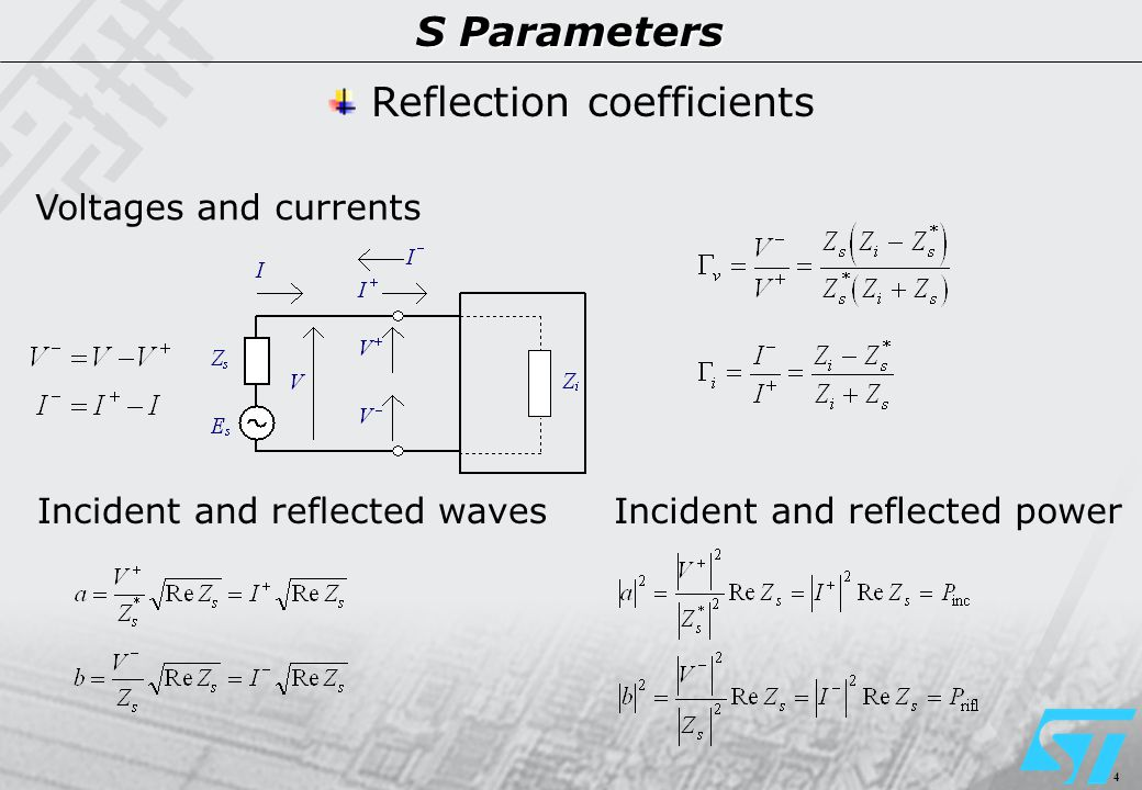 15 S Parameters Power gain definitions Available gain By design strategy, the source is in a controlled mismatch.