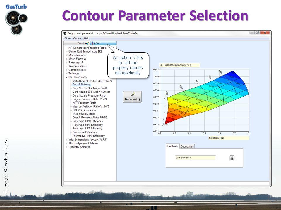 Contour Parameter Selection Copyright © Joachim Kurzke An option: Click to sort the property names alphabetically