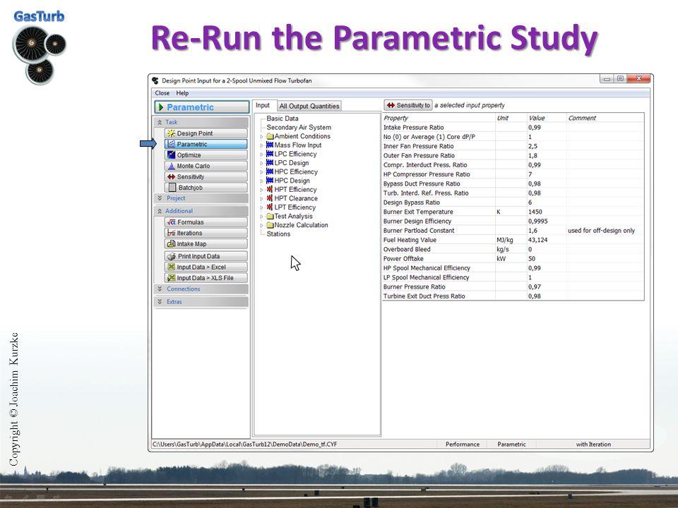 Re-Run the Parametric Study Copyright © Joachim Kurzke