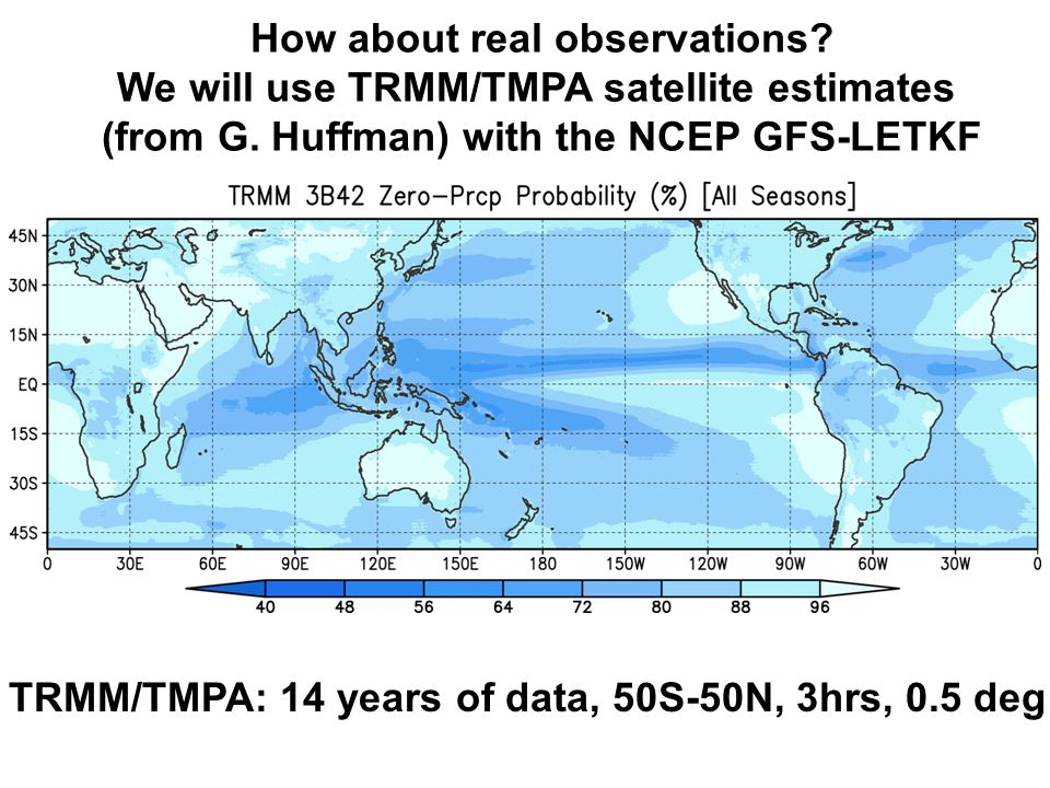 How about real observations. We will use TRMM/TMPA satellite estimates (from G.