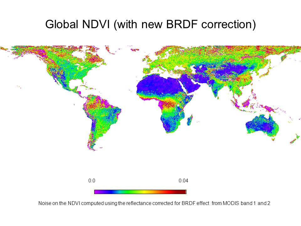 0.00.04 Noise on the NDVI computed using the reflectance corrected for BRDF effect from MODIS band 1 and 2 Global NDVI (with new BRDF correction)