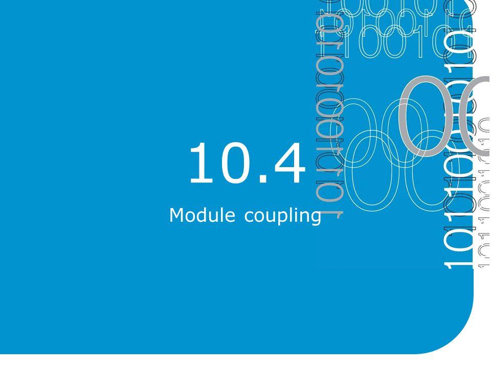 10.4 Module coupling