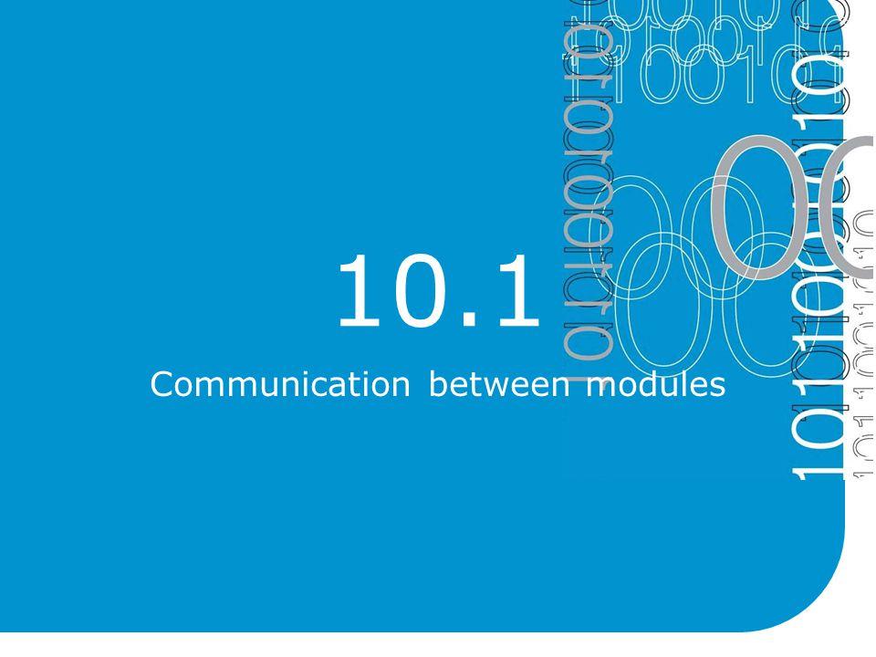 10.1 Communication between modules