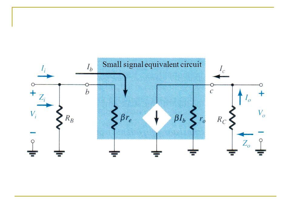 Small signal equivalent circuit