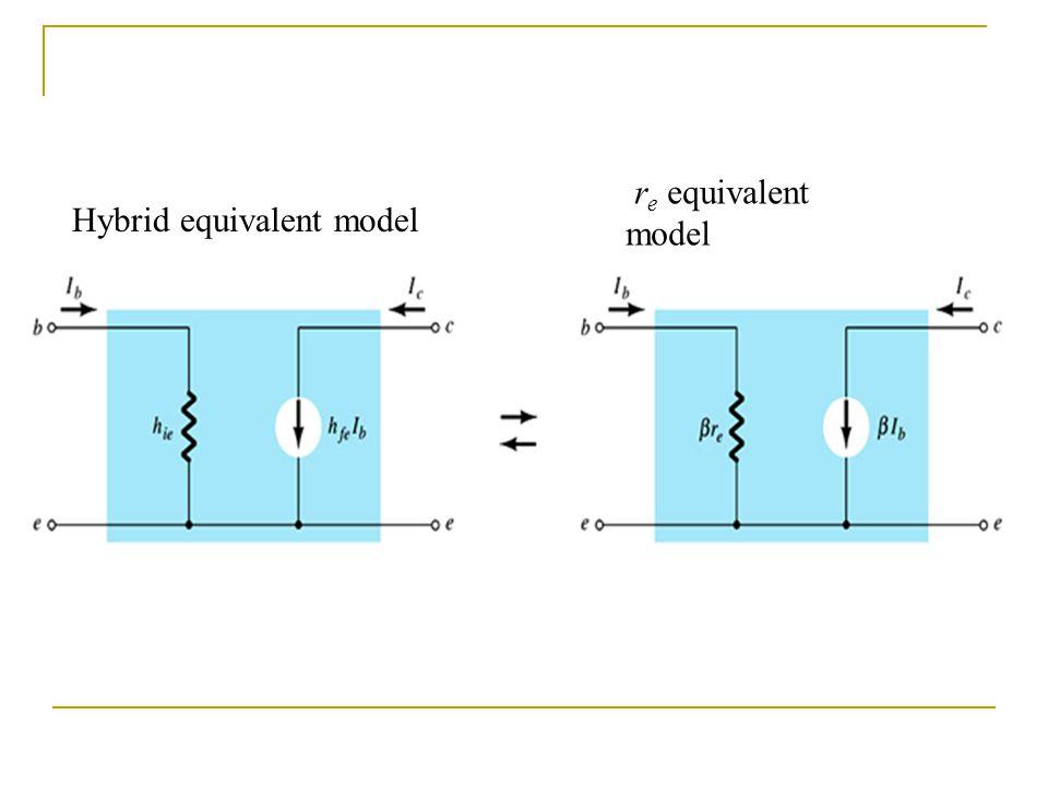 Hybrid equivalent model r e equivalent model