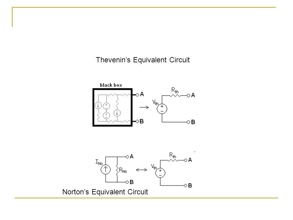 Thevenin's Equivalent Circuit Norton's Equivalent Circuit