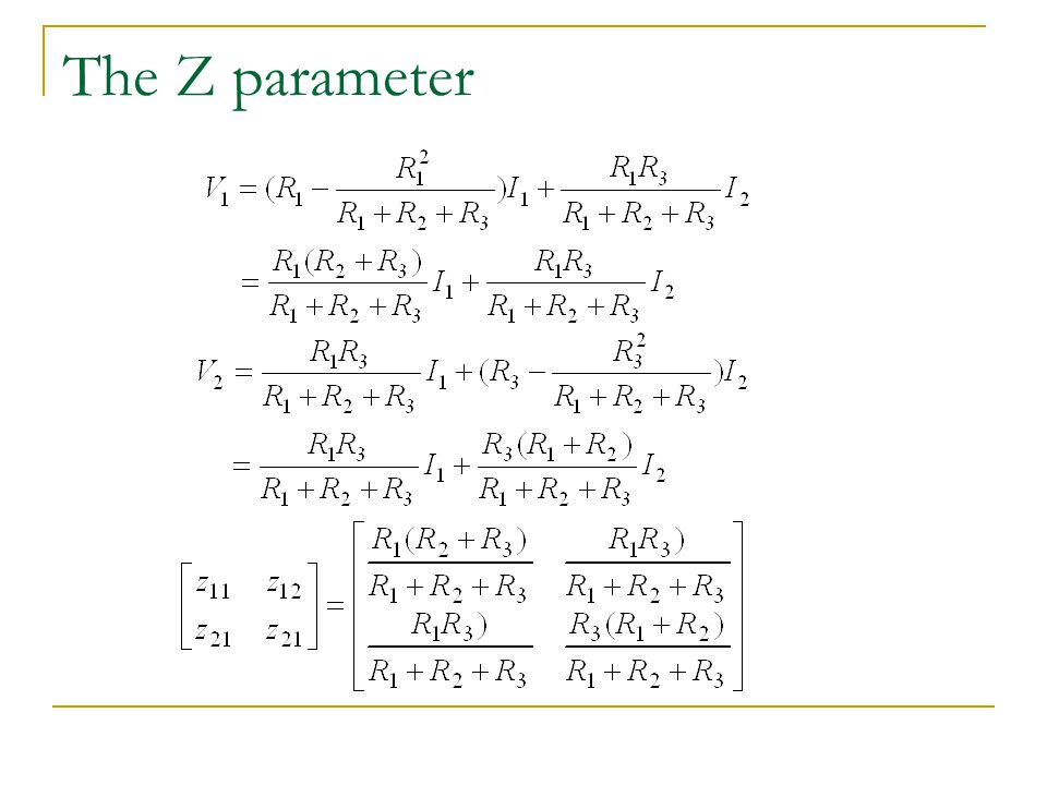 The Z parameter