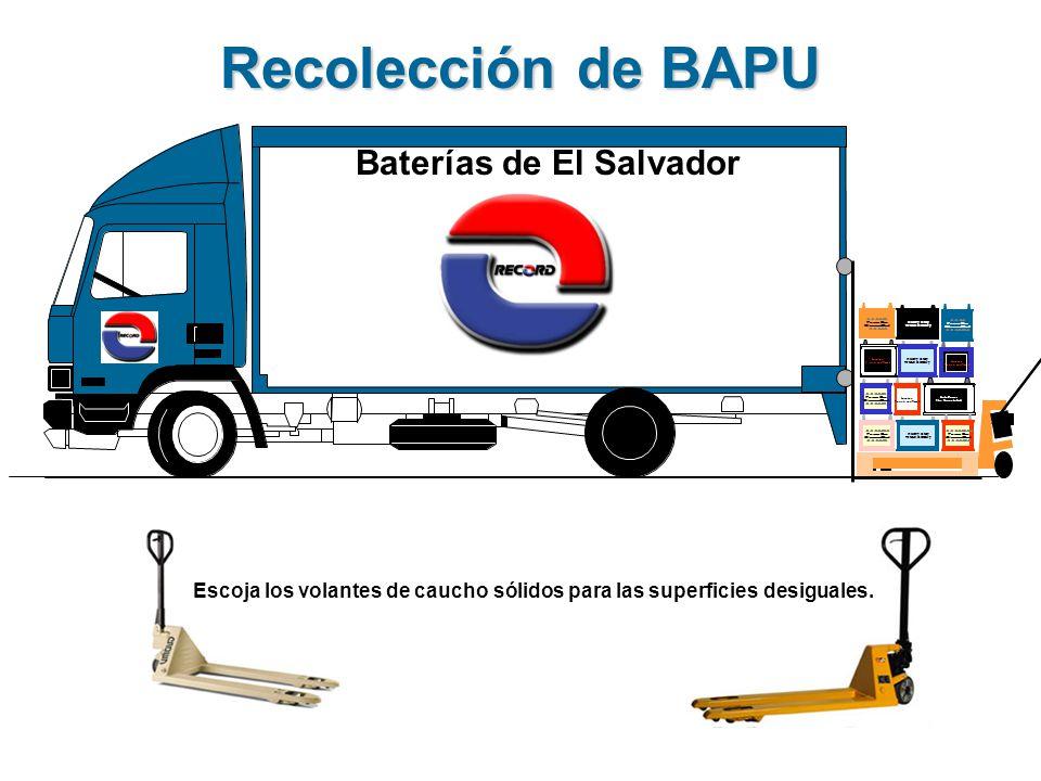 Baterías de El Salvador Escoja los volantes de caucho sólidos para las superficies desiguales.